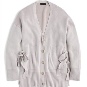 J  Crew Slouchy Cardigan with Side Ties